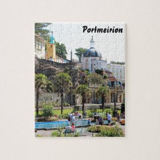 Portmeirionの中心の眺め ジグソーパズル