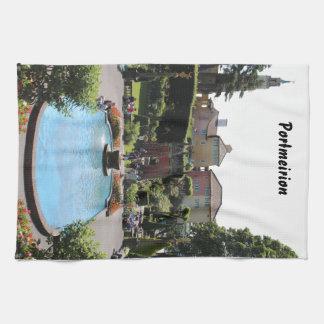 Portmeirionの噴水 キッチンタオル