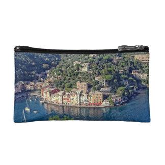 Portofino、イタリアの鳥瞰的な眺め-化粧品のバッグ コスメティックバッグ