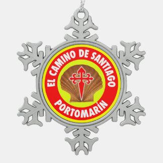 Portomarín スノーフレークピューターオーナメント