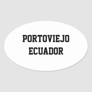 Portoviejoエクアドルの楕円形のステッカー 楕円形シール