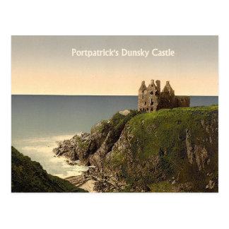 Portpatrickの郵便はがきのDunskyの城 ポストカード