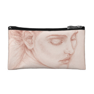 Portrait Drawingビクトリアンな女性 コスメティックバッグ