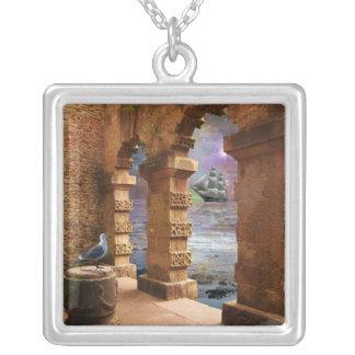 Poseidonの寺院 シルバープレートネックレス