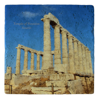 Poseidon - Sounioの寺院 トリベット