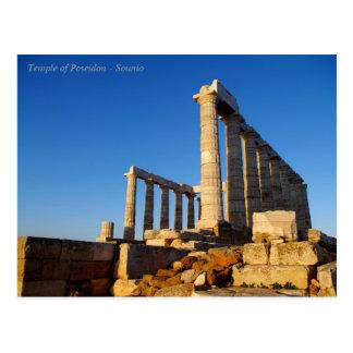 Poseidon - Sounioの寺院 ポストカード