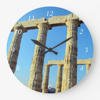 Poseidon - Sounioの寺院 ラージ壁時計