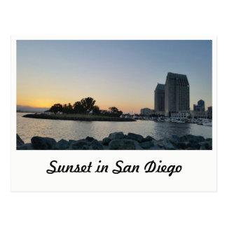 Postcard - Sunset in San Diego ポストカード