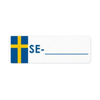"""Postcrossing IDのラベルスウェーデン""""旗スタイル"""" ラベル"""