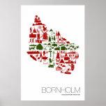 "Poster ""Bornholm Logo"" 60 x 90 cm Hochformat ポスター"