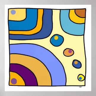 """Poster carré moyen modèle """"Bubble Gum Art"""" ポスター"""