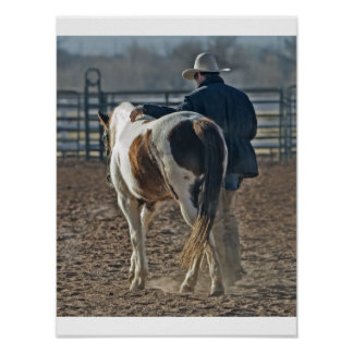 Poster cow boy cheval ポスター
