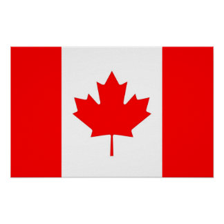 Poster with Flag of Canada ポスター