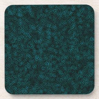Posterizedの青い糸 コースター