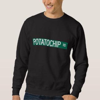 Potatochipの道、道路標識、ミズーリ、米国 スウェットシャツ