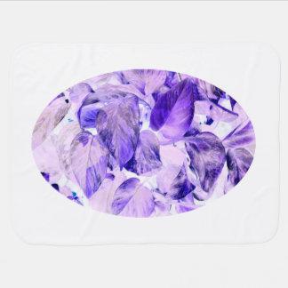 pothosによって逆にされる植物の青い紫色 ベビー ブランケット