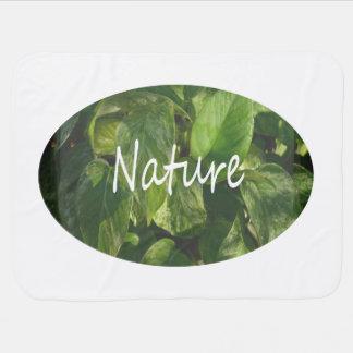 pothosの背景の自然の単語 ベビー ブランケット