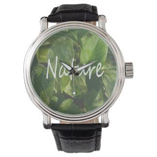 pothosの背景の自然の単語 腕時計