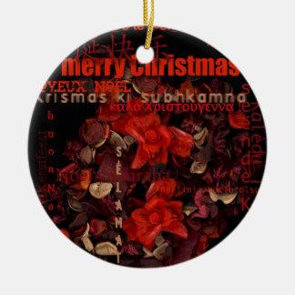 Potpouriの世界のクリスマスのNavidad Noelの文字円形O セラミックオーナメント