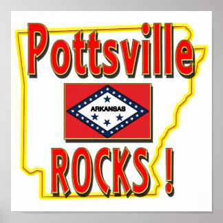 Pottsvilleの石! (赤) ポスター
