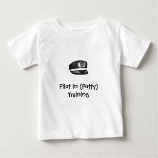 (Pottyの)訓練のパイロット ベビーTシャツ