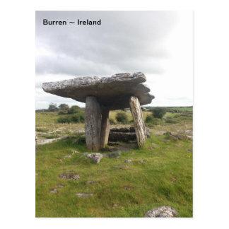 Poulnabroneの門脈の墓、Burren、ドクレア、アイルランド ポストカード