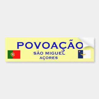 Povoacaoアゾレス-バンパーステッカー バンパーステッカー