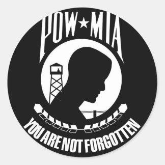 POW-MIAの旗 ラウンドシール