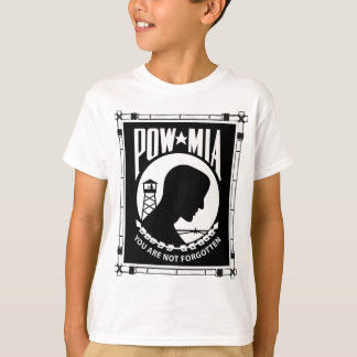 POW/MIAの長方形のタケフレーム Tシャツ