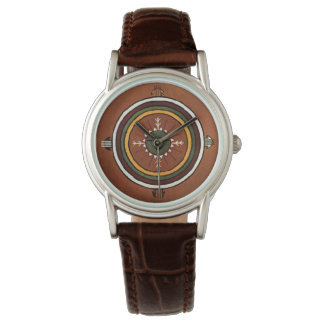 PowalawuのネイティブアメリカンSandpainting 腕時計
