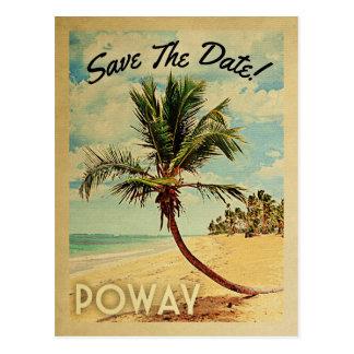 Poway California Save The Date Vintage ポストカード