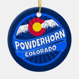 Powderhornコロラド州山の破烈のオーナメント セラミックオーナメント