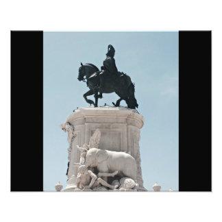 PraçaはComércioの彫像をします フォトプリント