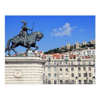 Praca da Figueira、リスボン、ポルトガル ポストカード