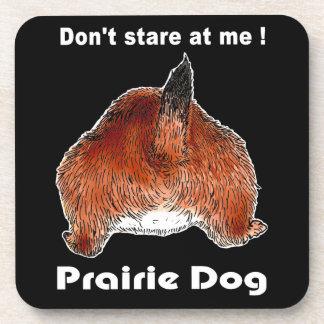 Prairiedogsのプレーリードッグ、コルクのコースター ビバレッジコースター