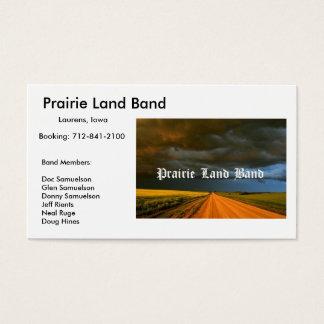 prairielandbandbig、予約する草原の土地バンド: … 名刺