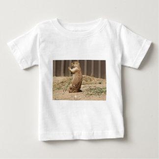 Prarie犬の食べ物の草の乳児のTシャツ ベビーTシャツ