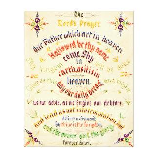 Prayer Calligraphy 1889年主の キャンバスプリント