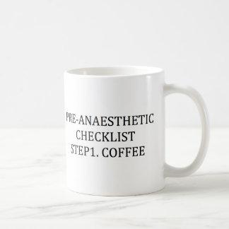 PRE-ANAESTHETICのチェックリストのステップ1 -コーヒー コーヒーマグカップ