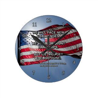 PRES45顔の挑戦 ラウンド壁時計