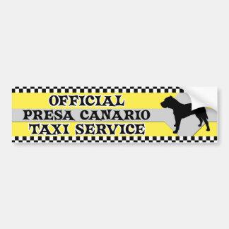 Presa Canarioのタクシーサービスバンパーステッカー バンパーステッカー