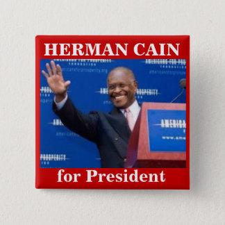 Presidenボタンのためのヘルマンカイン 5.1cm 正方形バッジ