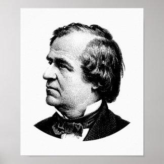President Andrew Johnson Graphic ポスター