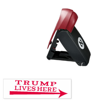 President Donald Trump Lives Here Funny Stamp ポケットスタンプ