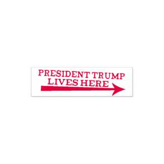 President Donald Trump Lives Here Troll Stamp セルフインキングスタンプ
