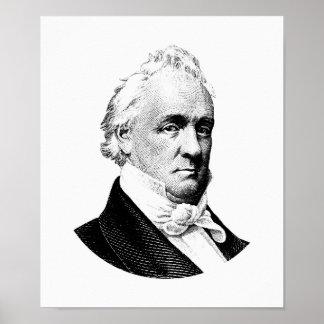 President James Buchanan Graphic ポスター