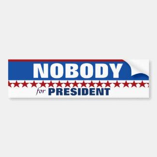 Presidntのためのだれも バンパーステッカー