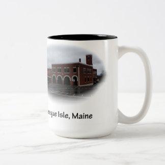 Presqueの島、メイン-消防署 ツートーンマグカップ