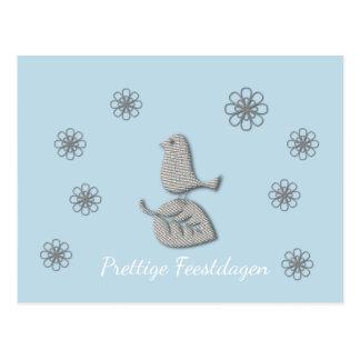 Prettige Feestdagen Witte Kerst Kaart ポストカード