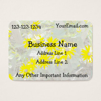 Pretty Daisies Nature Business Card 名刺